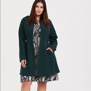 NWT Torrid Green Wool Jacket